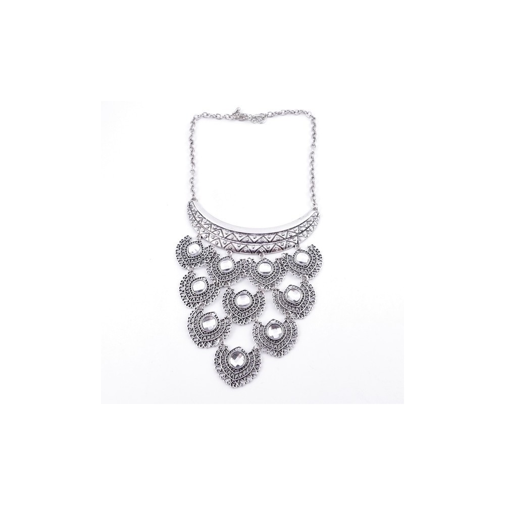 30669-25 SHORT METAL FASHION JEWELRY NECKLACE
