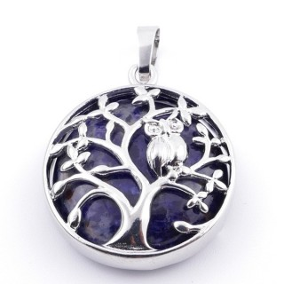 36979-13 FASHION JEWELLERY TREE OF LIFE 27 MM PENDANT WITH STONE IN LAPIS LAZULI