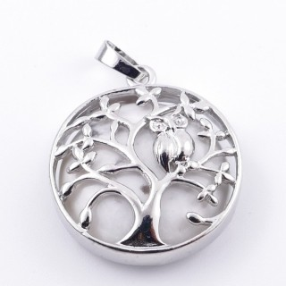 36979-14 FASHION JEWELLERY TREE OF LIFE 27 MM PENDANT WITH STONE IN HOWLITE