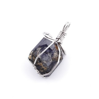 36987 TOURMALINE PENDANT MADE WITH FASHION JEWELRY WIRE APPROXIMATELY 2 CM