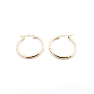 36802 GOLD COLOURED STAINLESS STEEL 20 MM HOOP EARRINGS