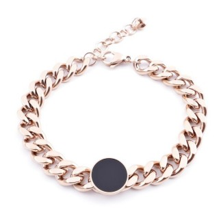 37042 STAINLESS STEEL ROSE GOLD 18 + 4 CM LONG BRACELET