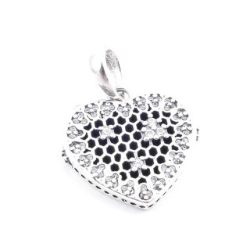 36706 STERLING SILVER BRACELET CHARM: HEART 16 MM