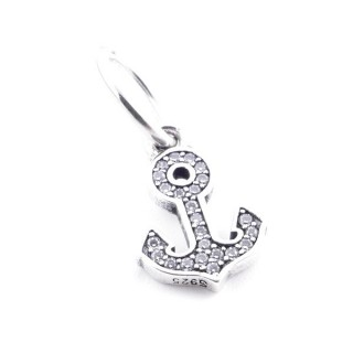 36710 STERLING SILVER BRACELET CHARM: ANCHOR 13 X 9 MM