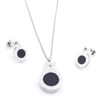 36826 SET OF STAINLESS STEEL EARRINGS AND MATCHING NECKLACE