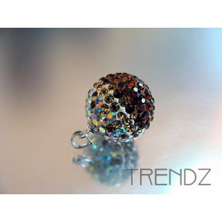 14846 TOPAZ 16 MM SILVER ZIRCON BALL PENDANT