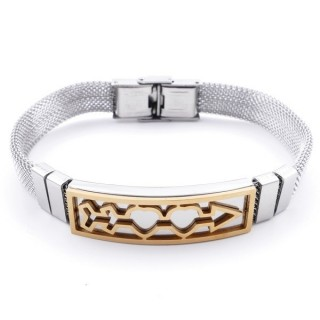 36909-02 TWO TONE STAINLESS STEEL 22 CM BRACELET