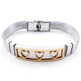 36909-03 TWO TONE STAINLESS STEEL 22 CM BRACELET