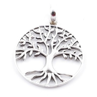 36606 STERLING SILVER 925 TREE OF LIFE PENDANT 30 MM
