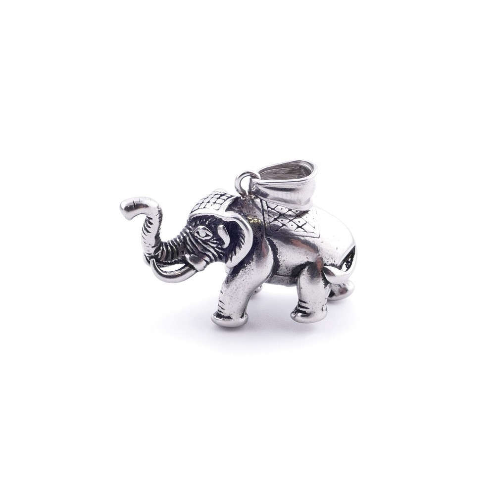 36849 ELEPHANT SHAPED STAINLESS STEEL 27 X 33 MM PENDANT