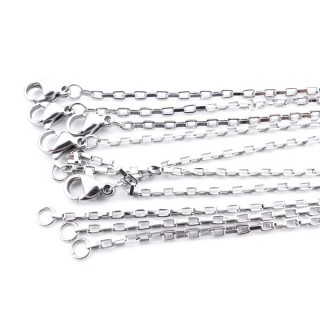 36907 PACK OF 5 STAINLESS STEEL 2 MM X 50 CM CHAINS