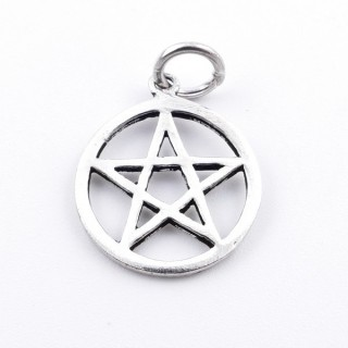 53035 STERLING SILVER PENDANT WITH PENTAGRAM 15 MM