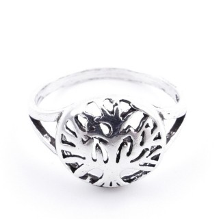 53049-16 SILVER RING WITH 11 MM TREE OF LIFE. SIZE 16