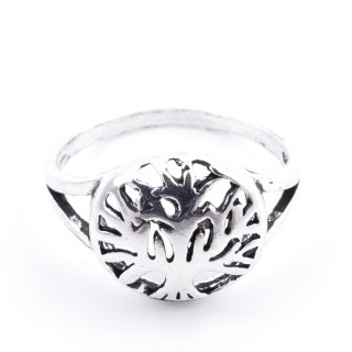 53049-18 SILVER RING WITH 11 MM TREE OF LIFE. SIZE 18