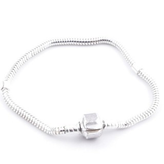 51067 STERLING SILVER 3 MM X 19 CM BRACELET FOR CHARMS
