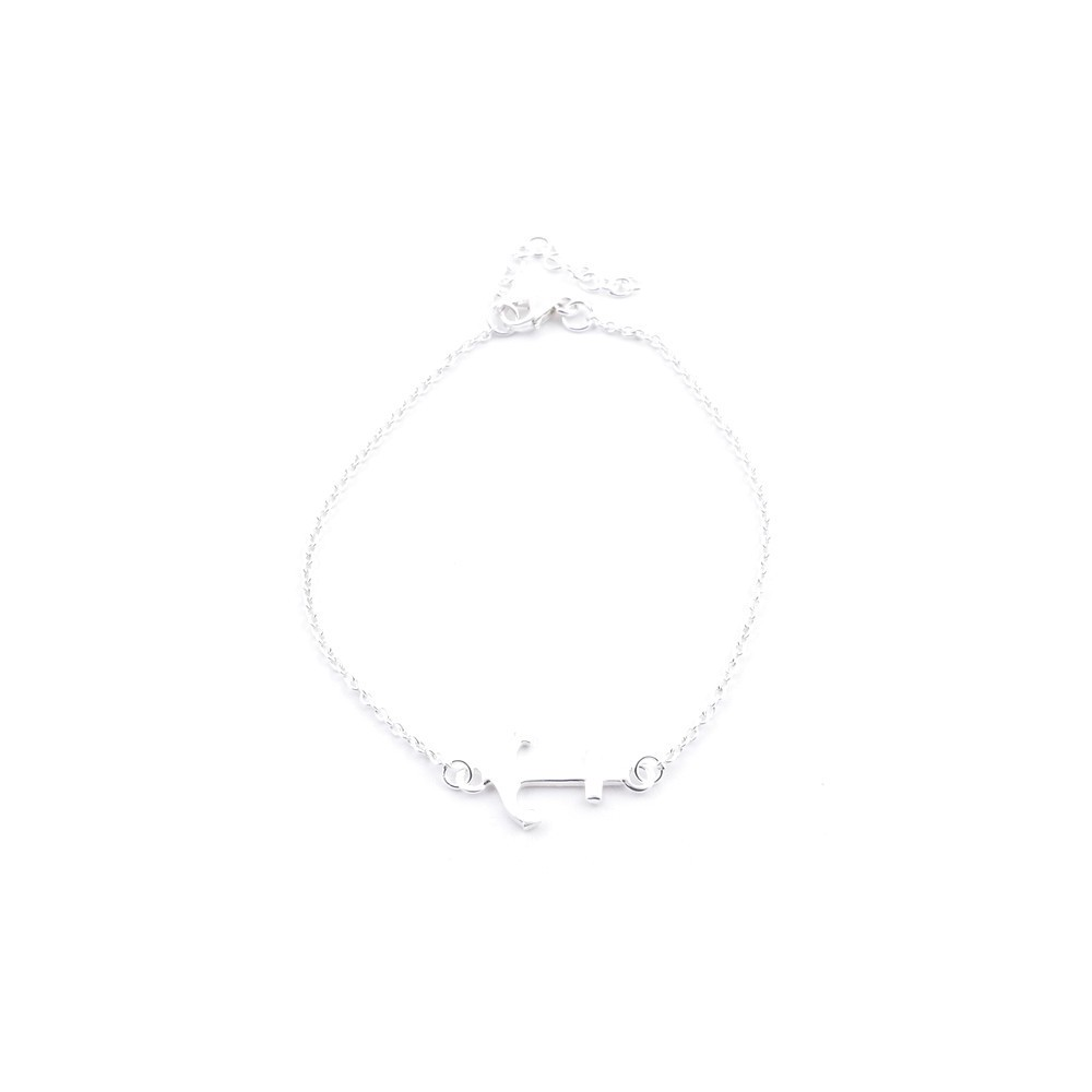 55150 STERLING SILVER 925 19 CM BRACELET WITH ANCHOR