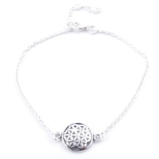 55155 STERLING SILVER 925 19 CM BRACELET WITH FLOWER OF LIFE
