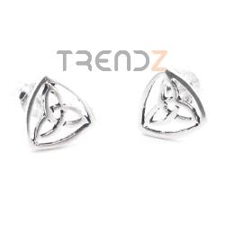 55177 STERLING SILVER 8 MM TRIQUETRA EARRINGS