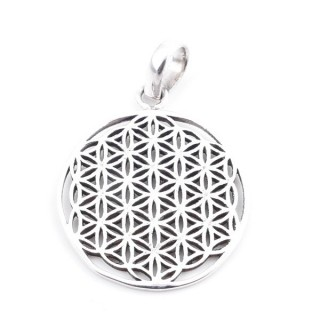 36664 STERLING SILVER 26 MM FLOWER OF LIFE PENDANT