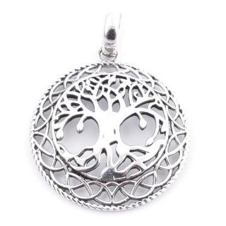 36670 STERLING SILVER 30 MM TREE OF LIFE PENDANT