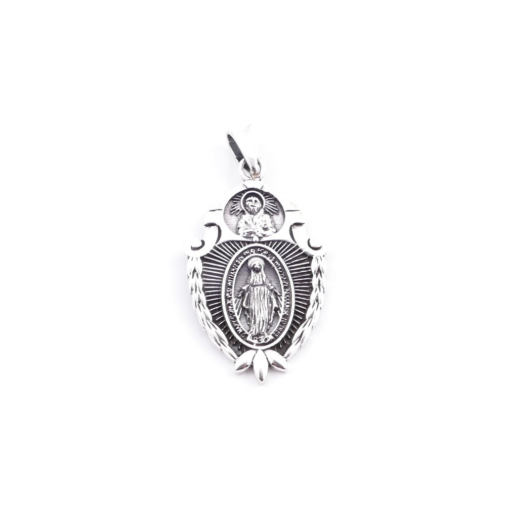 50051 STERLING SILVER 925 PENDANTS WITH SAINTS 34 X 21 MM