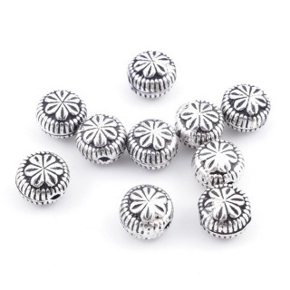 36686 PACK OF 10 BEADS OF 7 X 6 MM IN SILVER 925