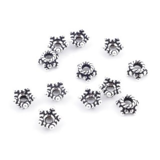 36689 PACK OF 12 CUPS OF 6 X 3 MM IN SILVER 925
