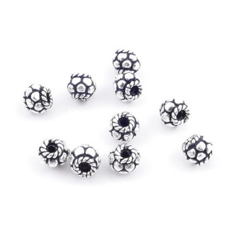 36694 PACK OF 10 BEADS OF 4 X 5 MM IN SILVER 925