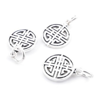 37117 PACK OF 3 STERLING SILVER 11 MM CHARMS