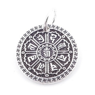 37120 WHEEL OF JUSTICE STERLING SILVER 18 MM CHARM
