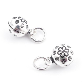 37123 PACK OF 2 SILVER 925 9 MM BELL CHARMS