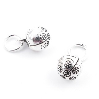 37124 PACK OF 2 SILVER 925 8 MM BELL CHARMS