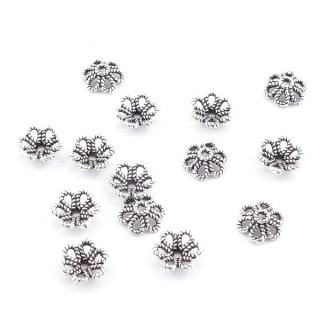 37133 PACK OF 14 PCS 7 MM BEADS CUPS IN SILVER 925
