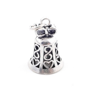 37134 STERLING SILVER BELL SHAPED 19 X 13 MM CHARM