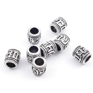 37137 PACK OF 8 SILVER 925 TUBES 4 X 5 MM WITH 3 MM HOLE