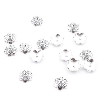 37139 PACK OF 16 SILVER 925 BEADS CAPS 8 MM
