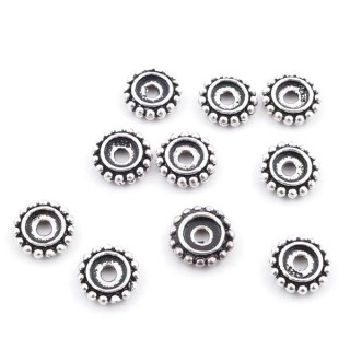 37141 PACK OF 10 STERLING SILVER 7 MM DIAMETER DISCS