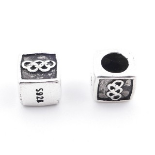 37142 PACK OF 2 STERLING SILVER 7 MM BEADS
