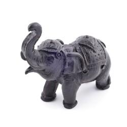 37107-02 ELEPHANT SHAPED RESIN FIGURE 8 X 3.5 X 9 CM