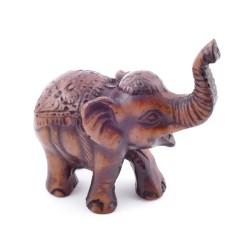 37153-01 ELEPHANT SHAPED FIGURE IN RESIN 6 X 3 X 6 CM