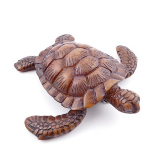 37104-01 TURTLE SHAPED RESIN FIGURE 2,5 X 10,5 X 10,5 CM