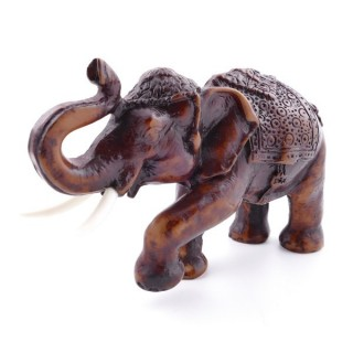37154-01 ELEPHANT SHAPED RESIN FIGURE 8 X 4,5 X 12 CM