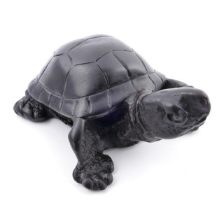 37161-02 TURTLE SHAPED RESIN FIGURE 3 X 7 X 9 CM