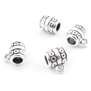 36214-02 PACK OF 15 METAL CHARMS WITH JUMP RINGS 8 X 7 MM & 4 MM HOLE