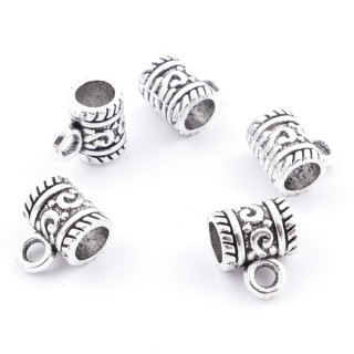 36214-06 PACK OF 20 METAL CHARMS WITH JUMP RINGS 9 X 6 MM & 4 MM HOLE