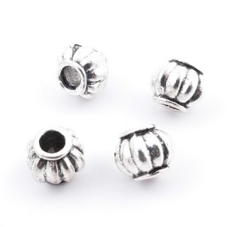 36214-07 PACK OF 25 METAL FASHION JEWELRY BEADS 8 X 7 MM