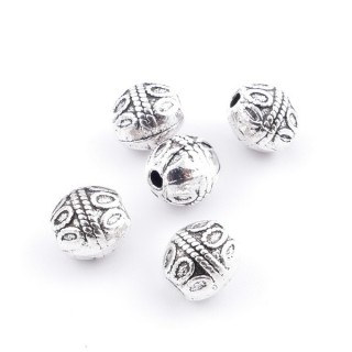 36214-08 PACK OF 12 METAL FASHION JEWELRY BEADS 7 X 8 MM