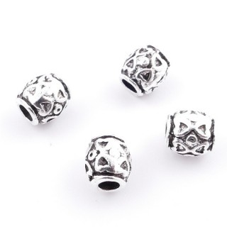36214-09 PACK OF 15 METAL FASHION JEWELRY BEADS 7 X 8 MM