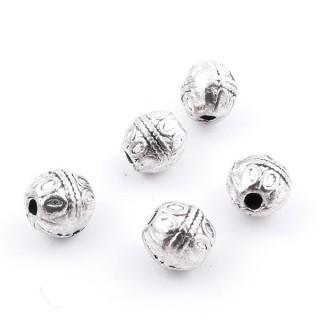 36214-10 PACK OF 25 METAL FASHION JEWELRY BEADS 5 X 6 MM