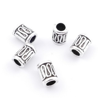36214-11 PACK OF 20 METAL FASHION JEWELRY BEADS 5 X 9 MM
